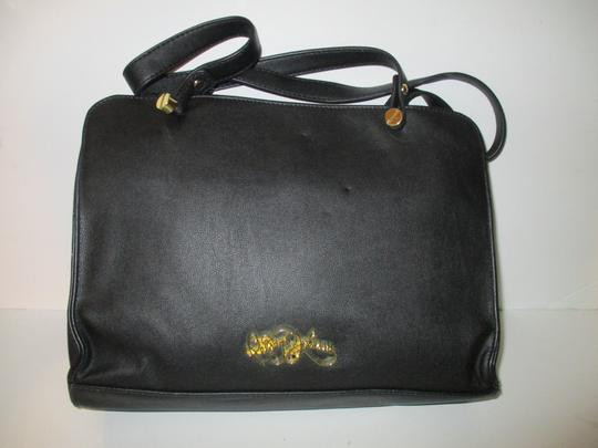 Betsey Johnson Gold Hardware Sequins Bow Signature Lining Satchel in Black Image 1