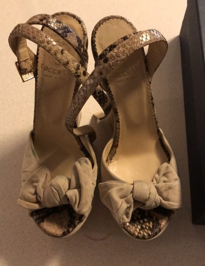 taccetti off white/beige and snake skin Wedges Image 1