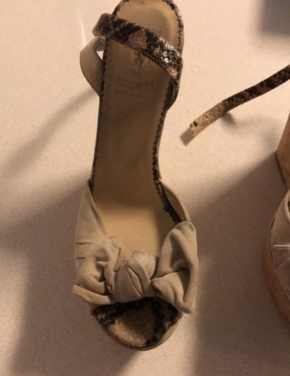 taccetti off white/beige and snake skin Wedges Image 10