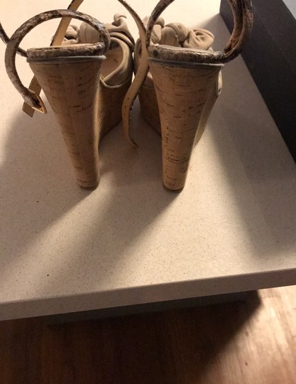 taccetti off white/beige and snake skin Wedges Image 3