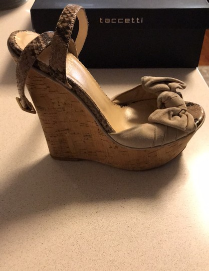 taccetti off white/beige and snake skin Wedges Image 5