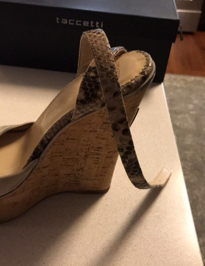 taccetti off white/beige and snake skin Wedges Image 7