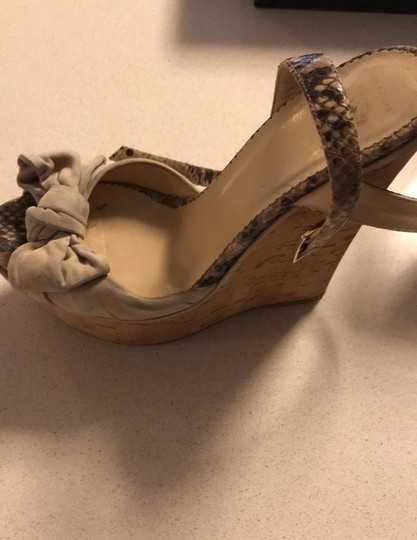 taccetti off white/beige and snake skin Wedges Image 9