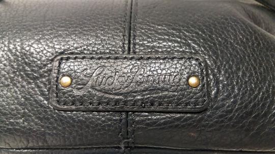 Lucky Brand Fold Over Leather Tassel Detail Metal Zippers Cross Body Bag Image 10