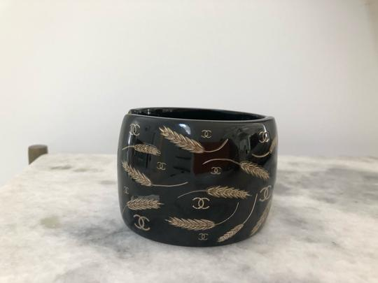 Chanel Chanel CC Wheat Resin Cuff Image 1