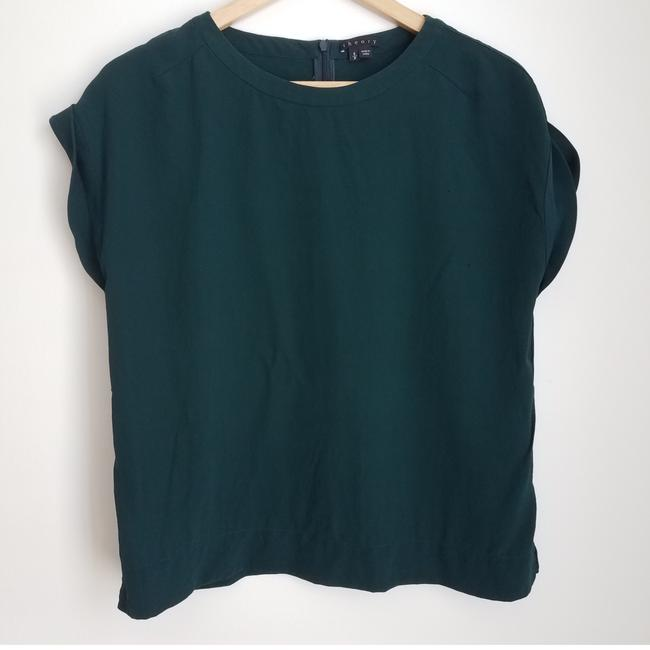 Preload https://item2.tradesy.com/images/theory-green-silk-blouse-size-4-s-25649586-0-1.jpg?width=400&height=650
