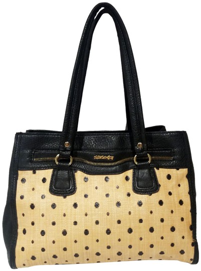 Preload https://img-static.tradesy.com/item/25649606/olivia-joy-bambo-and-polka-dot-black-strawfaux-leather-satchel-0-1-540-540.jpg