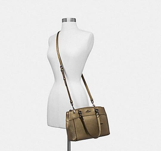Coach Carryall 34797 36704 Christie Satchel in METALLIC FERN Image 3