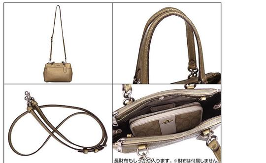Coach Carryall 34797 36704 Christie Satchel in METALLIC FERN Image 5