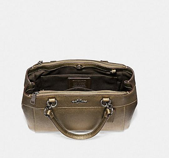 Coach Carryall 34797 36704 Christie Satchel in METALLIC FERN Image 6
