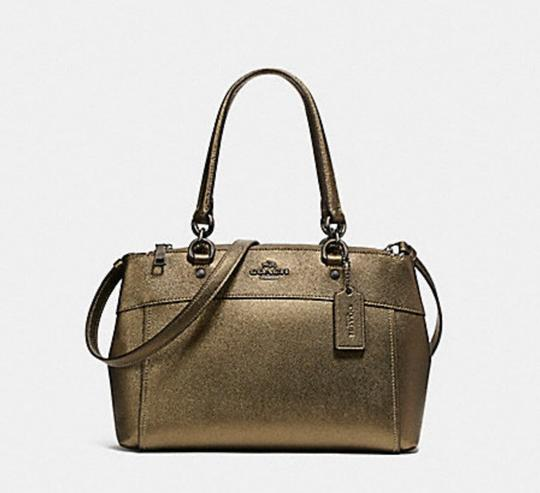 Coach Carryall 34797 36704 Christie Satchel in METALLIC FERN Image 8