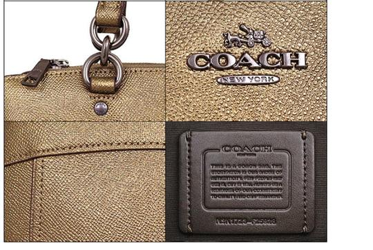 Coach Carryall 34797 36704 Christie Satchel in METALLIC FERN Image 9