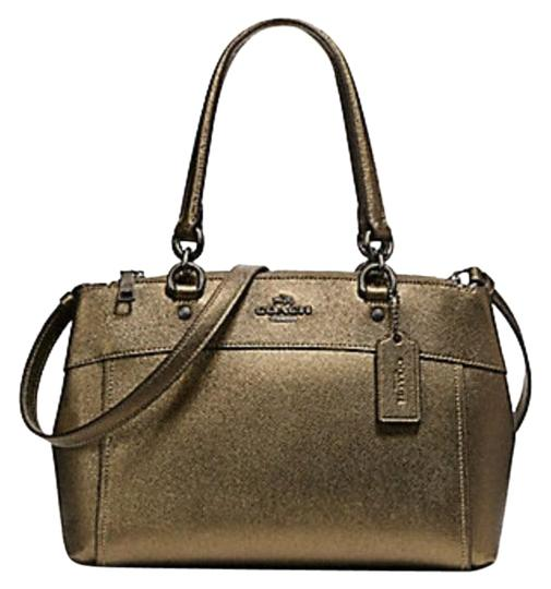 Coach Carryall 34797 36704 Christie Satchel in METALLIC FERN Image 0
