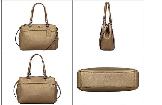 Coach Carryall 34797 36704 Christie Satchel in METALLIC FERN Image 2