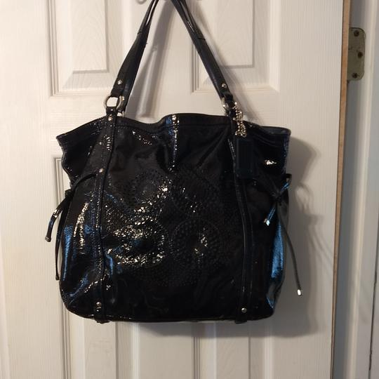 Coach Tote in Navy Image 1