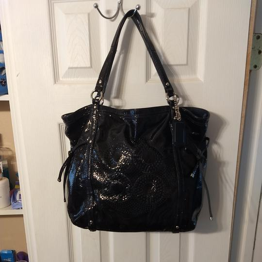 Coach Tote in Navy Image 2