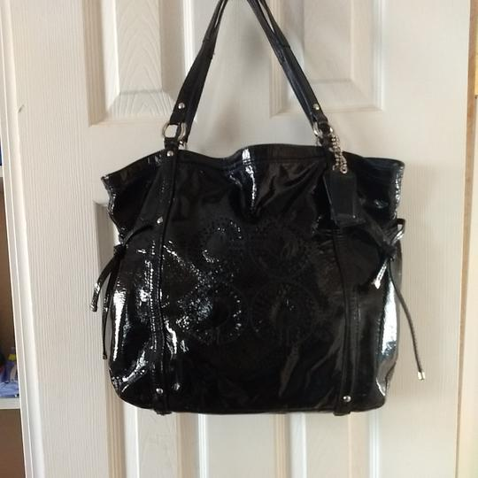 Coach Tote in Navy Image 3