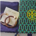 Tory Burch Stretched T logo hoop earrings Image 1