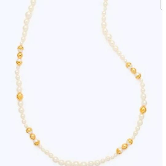 Tory Burch Capped Crystal pearl necklace Image 1