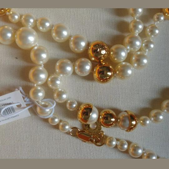 Tory Burch Capped Crystal pearl necklace Image 5