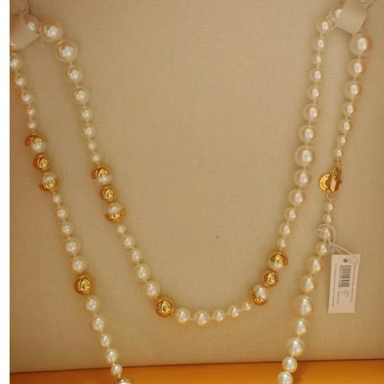 Tory Burch Capped Crystal pearl necklace Image 7
