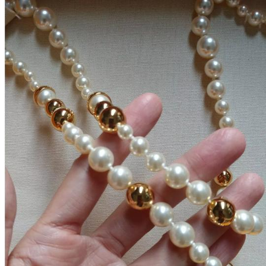 Tory Burch Capped Crystal pearl necklace Image 8