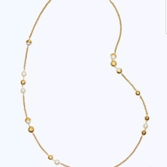 Tory Burch Capped Crystal pearl chain rosary Image 3