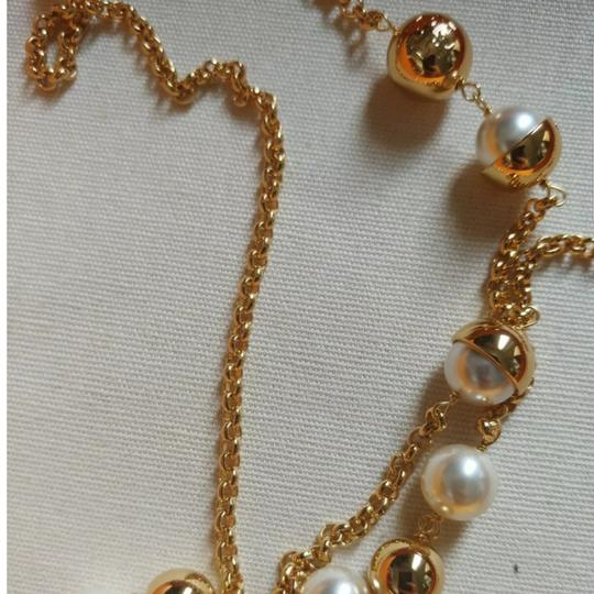 Tory Burch Capped Crystal pearl chain rosary Image 4