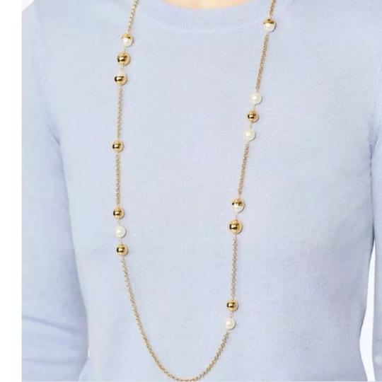 Tory Burch Capped Crystal pearl chain rosary Image 5