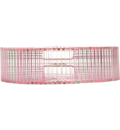 Cult Gaia Acrylic Transparent Tote Satchel in Pink Image 1