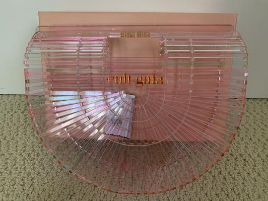 Cult Gaia Acrylic Transparent Tote Satchel in Pink Image 6