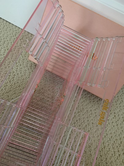 Cult Gaia Acrylic Transparent Tote Satchel in Pink Image 9