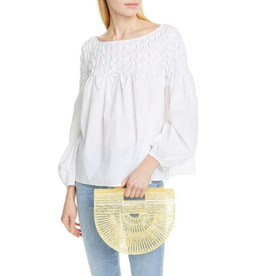 Cult Gaia Acrylic Tote Clutch Satchel in Yellow Image 1
