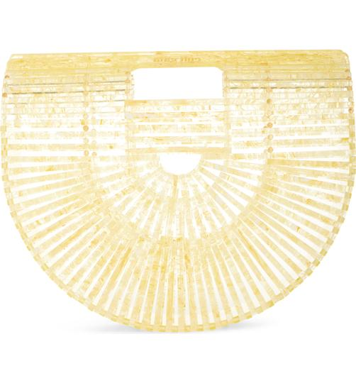 Cult Gaia Acrylic Tote Clutch Satchel in Yellow Image 2