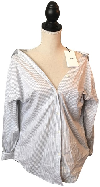 Preload https://img-static.tradesy.com/item/25649760/theory-tamalee-white-multi-hayes-stripe-button-down-top-size-6-s-0-1-650-650.jpg