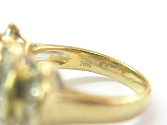 custom Green Emerald & Baguette Diamond Ring Solid 18Kt Yellow Gold 2.07Ct SI Image 4