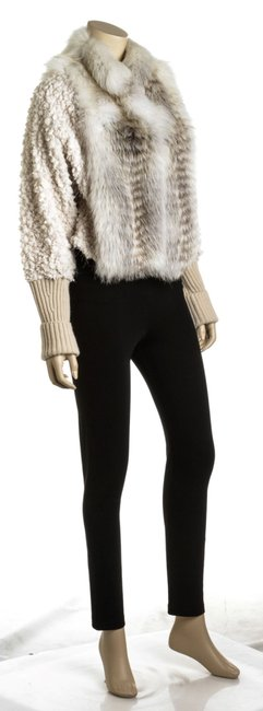 Fendi Jacket Cropped Fur Coat Image 1