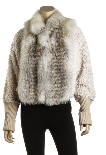 Fendi Jacket Cropped Fur Coat Image 4