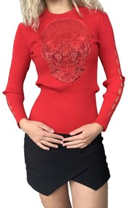 Philipp Plein Night Out Date Night Evening Top Red