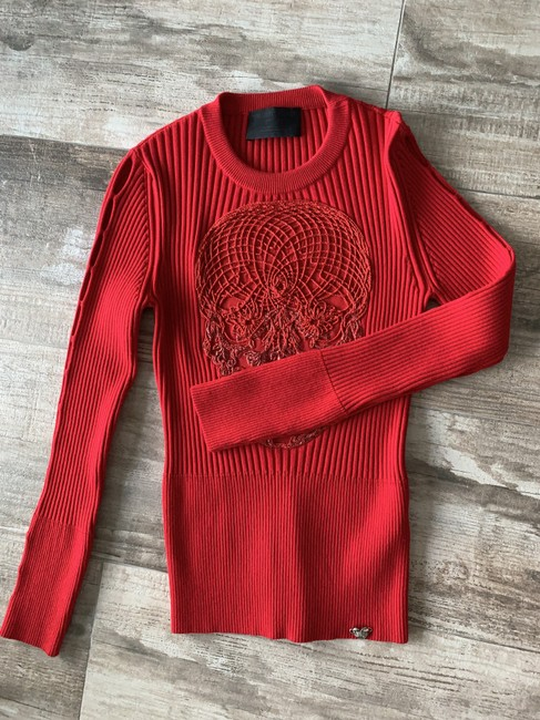 Philipp Plein Night Out Date Night Evening Top Red Image 5