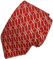 Brooks Brothers BROOKS BROTHERS SILK MENS NECK TIE RED WHITE GOLD YELLOW BRIDLE BUCKLE Image 0