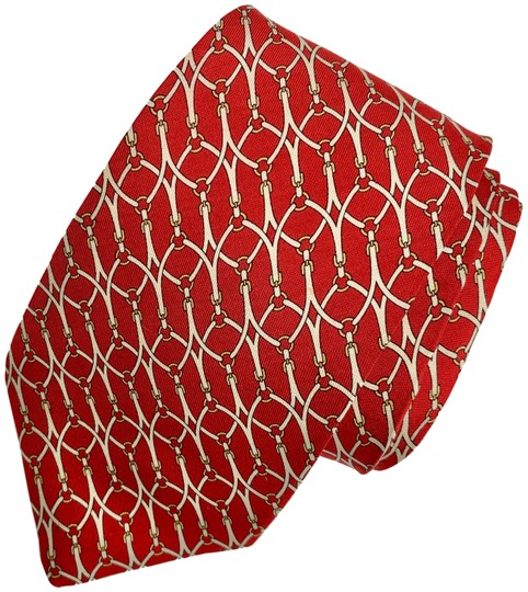 Preload https://img-static.tradesy.com/item/25649836/brooks-brothers-red-white-yellow-gold-silk-mens-neck-tie-bridle-buckle-0-1-540-540.jpg