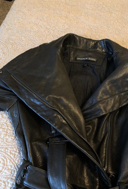 Andrew Marc black Leather Jacket Image 8