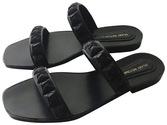Preload https://img-static.tradesy.com/item/25649891/stuart-weitzman-black-rosita-rose-sandals-size-us-9-narrow-aa-n-0-1-540-540.jpg