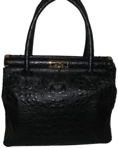 Old Florence Leather Factory Satchel in black