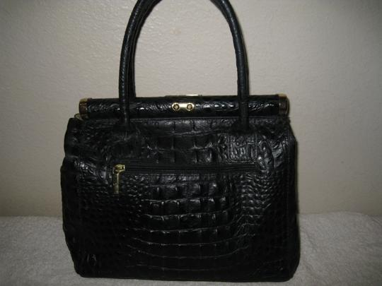 Old Florence Leather Factory Satchel in black Image 1