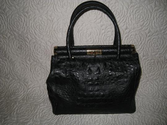 Old Florence Leather Factory Satchel in black Image 10