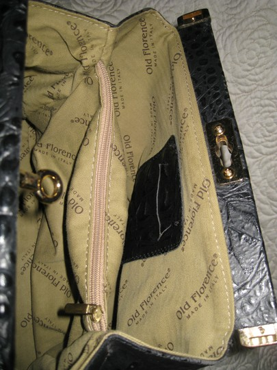 Old Florence Leather Factory Satchel in black Image 11
