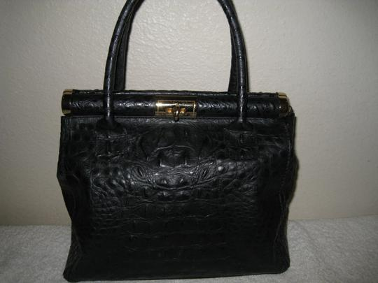 Old Florence Leather Factory Satchel in black Image 2