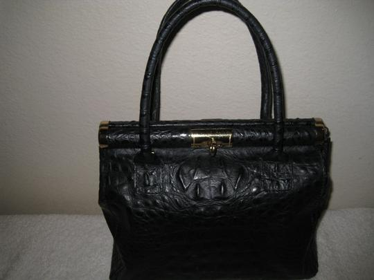 Old Florence Leather Factory Satchel in black Image 4